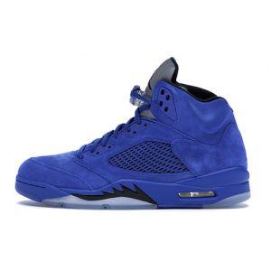 Blue Suede Jordan 5 Imitation Shoes