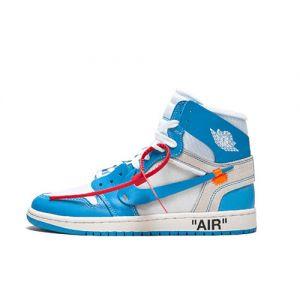 Fake Jordan 1 Retro High Off-White 'University Blue' Outside