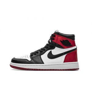 Fake Jordan 1 Retro High 'Satin Black Toe' Outside