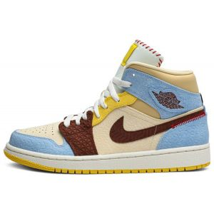 fake Jordan 1 Mid Maison Chateau Rouge shoe's outside