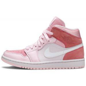 fake Jordan 1 Mid Digital Pink shoe's outside