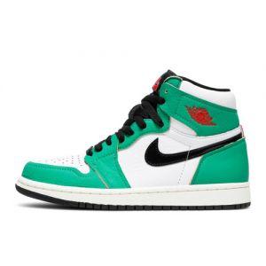Fake Jordan 1 High 'Lucky Green' Female Sneaker