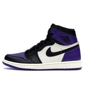 Fake Air Jordan 1 Retro High OG 'Court Purple' Outside