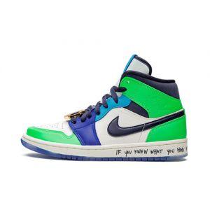 fake Jordan 1 Mid Melody Ehsani shoe's outside