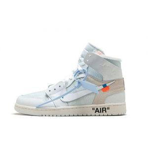 fake Jordan 1 High Off-White White shoe's Front