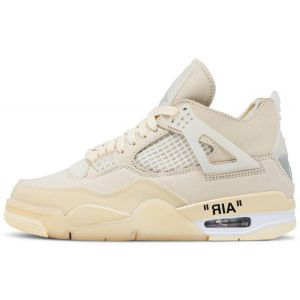 Fake Jordan 4 Retro Off-White Sail shoe's outside