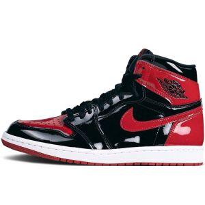 Fake Jordan 1 High OG 'Bred Patent'
