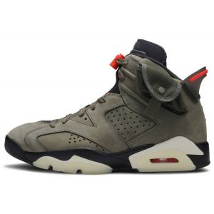 Fake Travis Scott Jordan 6 Olive shoe's outside