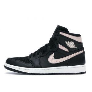 Female's Fake Jordan 1 High 'Black Silt Red'