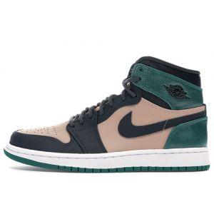 Women Jordan 1 High 'Beige Green' Fake Basketball Shoes