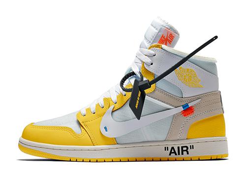 fake Off-White Jordan 1 High Yellow